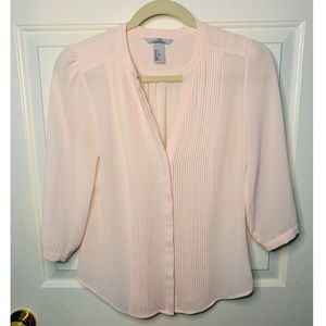 NEW H&M Button down Light Pink Blouse
